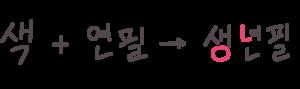ㄴ挿入の説明2